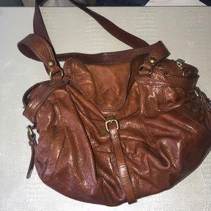 "Kooba ""Katy"" large brown leather satchel"